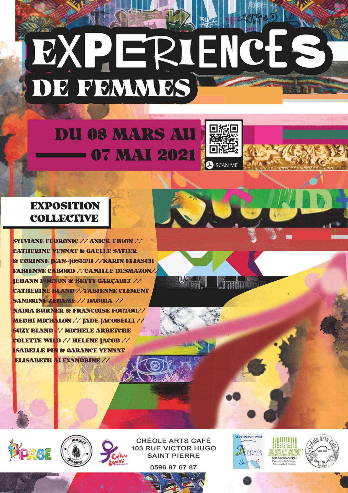 Affiche experience de femmes avec qr code et daouia red